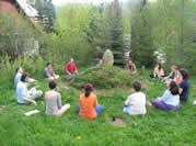 Společný závěrečný rituál na semináři