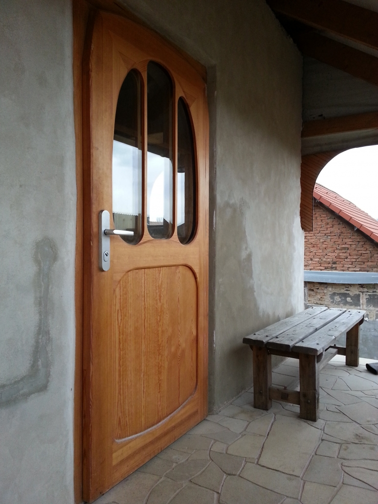 Goetheanistic design of the entrance door to the attic. Used curves  are based on therapeutic effect of cassini curve.