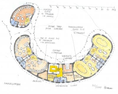 Ground floor plan of new waldorf kindergarten in Reno.