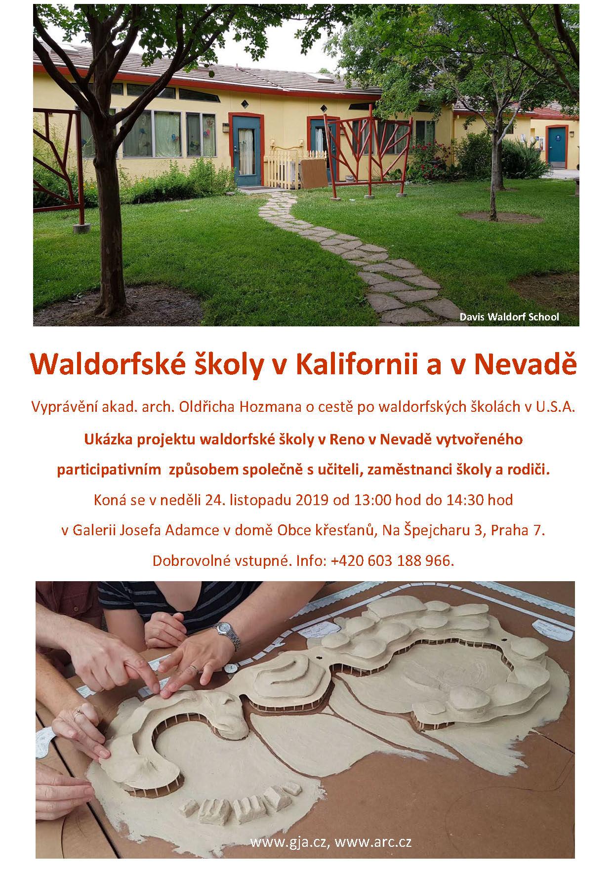 """Přednáška Oldřicha Hozmana """"Waldorfské školy v Kalifornii a Nevadě"""""""
